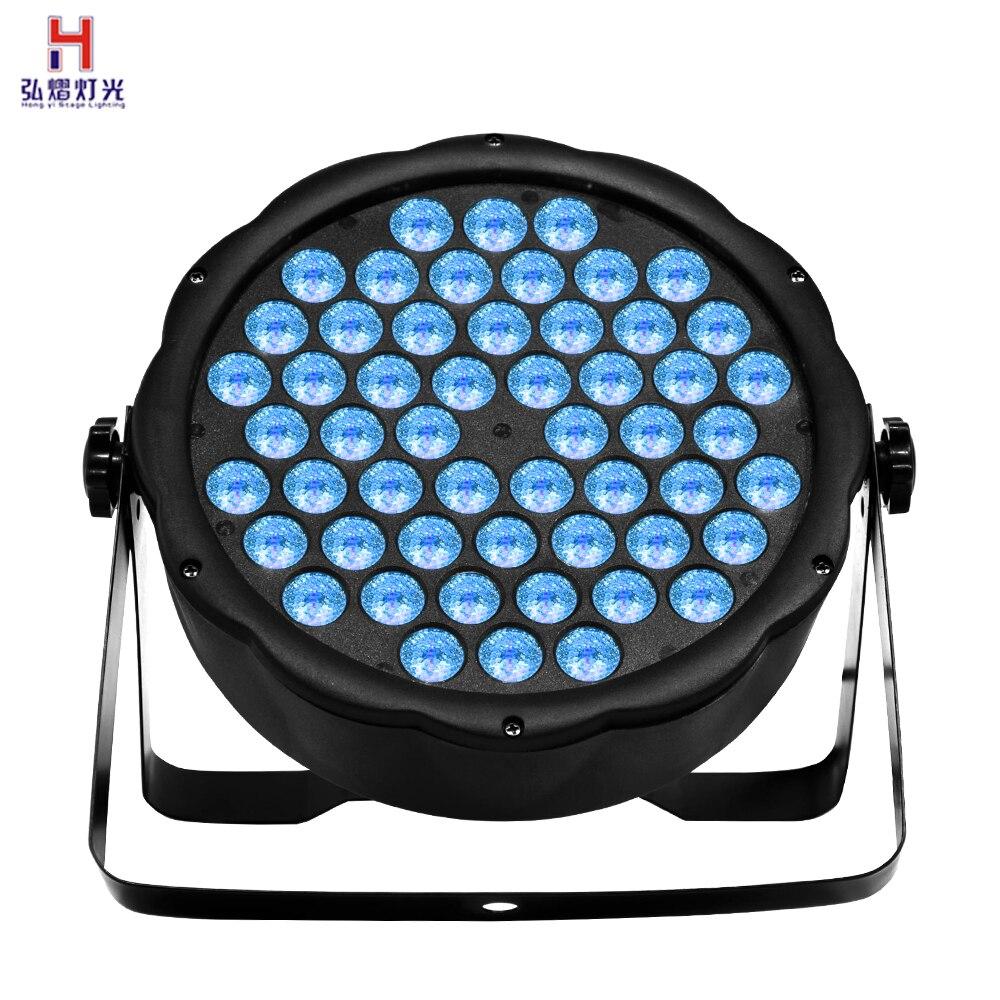 Par LED Pode acender 54x3W RGB Full color Luz de palco Para DJ controle dmx Com Canais de 7 iluminação