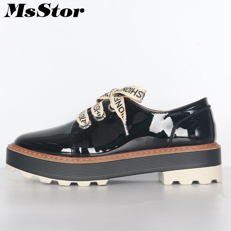 MsStor Round Toe Cross tied Women Flats Casual Fashion Ladies Flat Shoes 2018 New Spring Loafers Women Brand Flat Shoes cresfimix women cute spring summer slip on flat shoes with pearl female casual street flats lady fashion pointed toe shoes