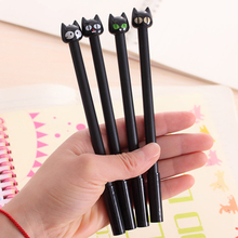 1pc Cute Kawaii Black Cat Gel Pen 0.5mm Refill Creative Cartoon Child Student Gift Stationery School Office Supplies