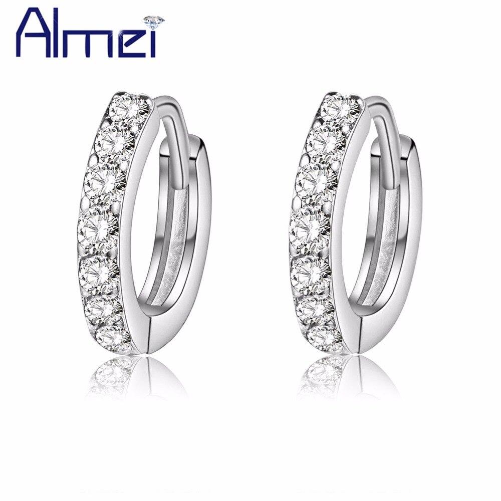 4f2635b87 Almei Aretes Mujer Stud Ear Cuff Earrings for Women Fashion korean Style  Earring cc Jewelry Zircon Stone Sale Ohrringe SYC51