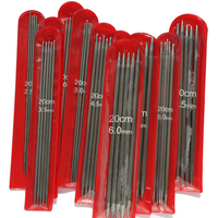 New 11 5 PCS 11 Sizes 20cm Double Point Stainless Steel Straight Knitting Needles Sweater Knitting