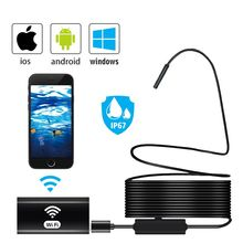 Wireless Inspection Camera 8MM WiFi Borescope Inspection Camera IP67 Waterproof Snake Camera for Android & iOS Endoscope Camera