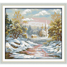 Everlasting love The early frost  Chinese cross stitch kits Ecological cotton clear printed 14CT 11CT DIY Christmas decorations