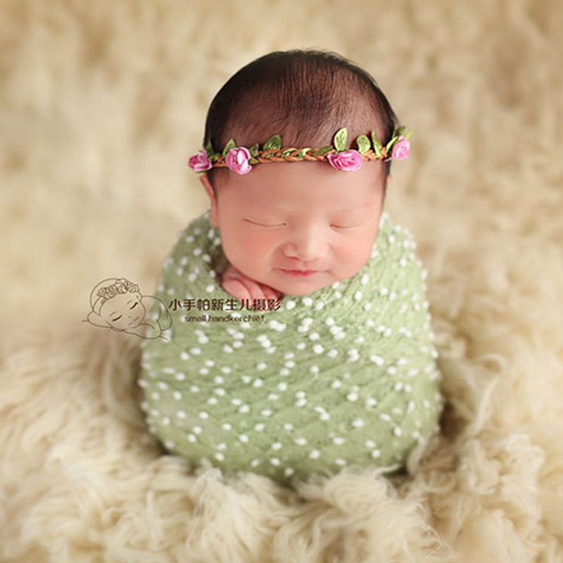 newborn photography props baby headband baby flower headwear garland hair accessory photography shooting props hand-made