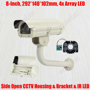 """8\"""" CCTV Camera Housing & Bracket & Array LED IR Board 292x140x102mm IP66 Waterproof Outdoor Enclosure for Zoom Box Bullet Camera - DISCOUNT ITEM  10% OFF Security & Protection"""