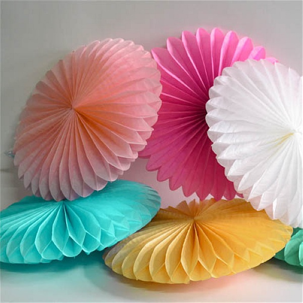 Aliexpress buy 6pc mixing 25cm30cm35cm tissue paper fan aliexpress buy 6pc mixing 25cm30cm35cm tissue paper fan pinweels hanging decoration for party home wedding decoration event party supplies from mightylinksfo