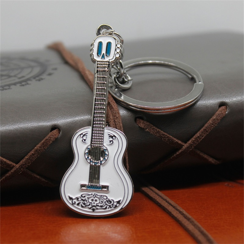 Movie Anime Coco Cosplay Costumes Guitar Dog Model Key Chain Keychain Necklace Pendant