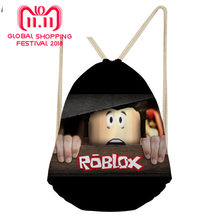 3D Roblox Games Pattern Printing Backpack Casual Men Small Backpack Men's Mochila Drawstring Bag for Kids Boys School Bags(China)