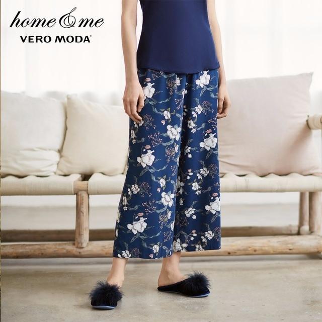 Vero Moda 2018 Floral Print Wide Leg Capri Pants |3174P7501