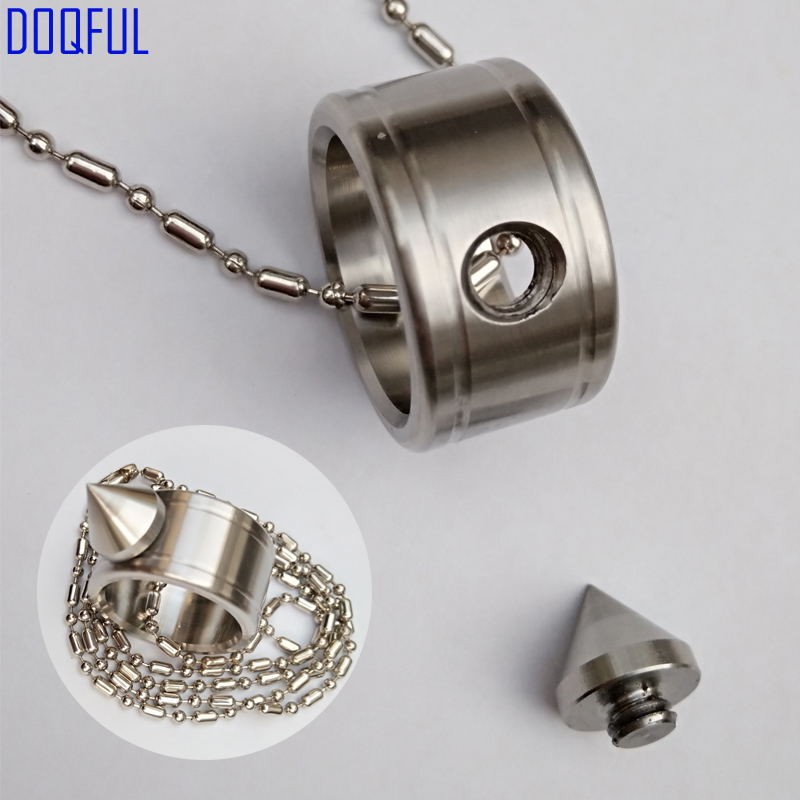 50pcs/lot Self Defense Stainless Steel Finger Ring Bead Chain Survival EDC Tactical Weapons Protective Fashion Jewelry Wholesale