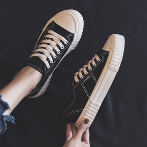 Image 4 - Sapatilhas femininas sapatos de lona primavera tendência casual apartamentos sapatilhas femininas nova moda conforto cor sólida sapatos vulcanizados