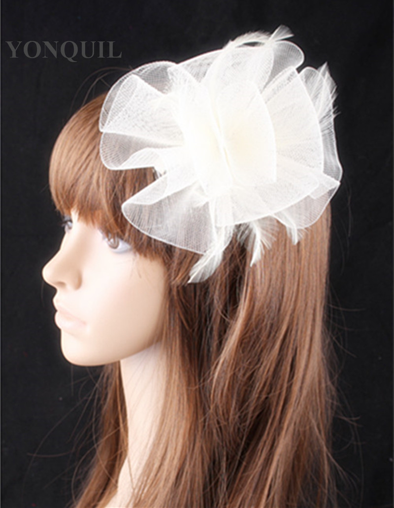 PROMOTION Ladies cheap feather flowers fascinators for wedding ...