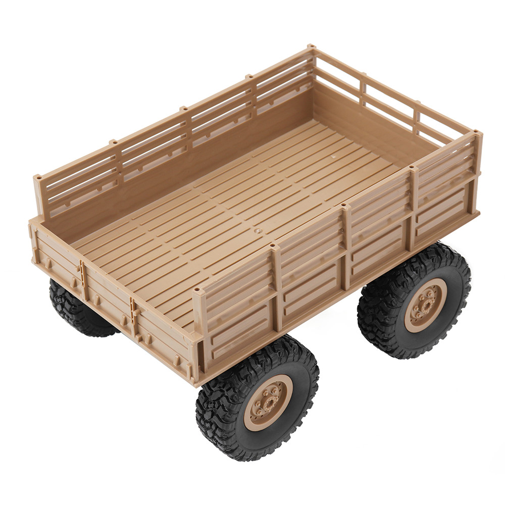 Upgrade Trailer Military RC Car DIY Part Set For <font><b>WPL</b></font> B1 B14 B16 <font><b>B24</b></font> 1/16 <font><b>Metal</b></font> Plastic High Strength Wear image
