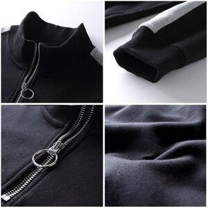 Image 5 - Pioneer camp retalhos zíper hoodies homens marca roupas de lã grossa outono inverno moletom masculino qualidade algodão awy702304