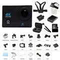4 К Wifi Дайвинг 30 м Водонепроницаемый Шлем Спорта WiFi Ночь заполнить свет HD Спорт Действие Камеры Cam 2 дюймов Экран HD 16mp Q3H +