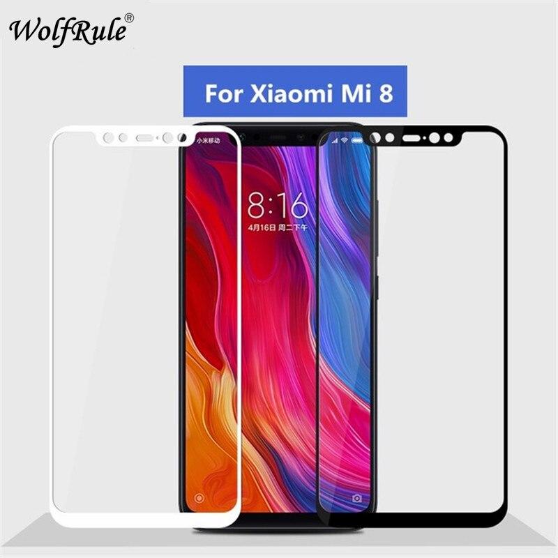 Protector de pantalla Xiaomi Mi8 vidrio templado para Xiaomi Mi8 cobertura completa de vidrio Xiaomi Mi8 Mi 8 película de teléfono|Protectores de pantalla de teléfono|   - AliExpress