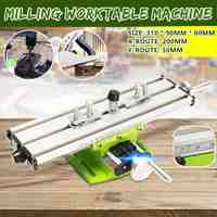Multifunction Worktable Milling Machine Working Slide Table Vise Fixture Adjustment Worktable w/Plat Nose Pliers For BenchDrill