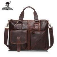 13 Real Leather Document Briefcase 2017 Retro Men Business Bags Mens Handbags Genuine Crazy Horse Cow