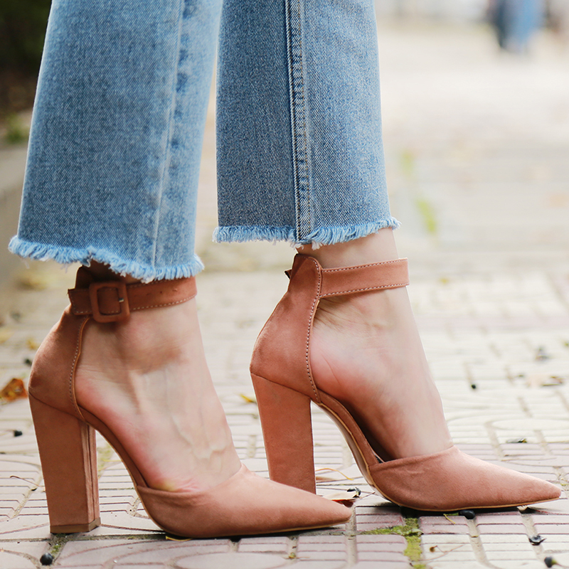 2018 Sexy Classic High Heels Women's Sandals Summer Shoes Ladies Strappy Pumps Platform Heels Woman Ankle Strap Shoes 11