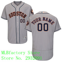 Men S Houston Astros Majestic Road Gray Flex Base Collection Custom Jersey