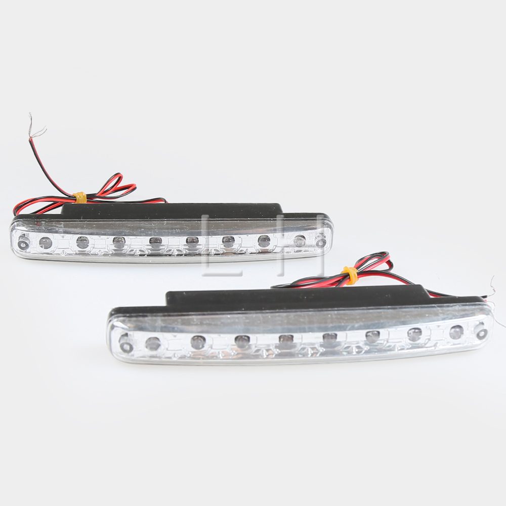 2x Car Super Bright 8 LED Light Car Lights Work Light Lamp White 8W