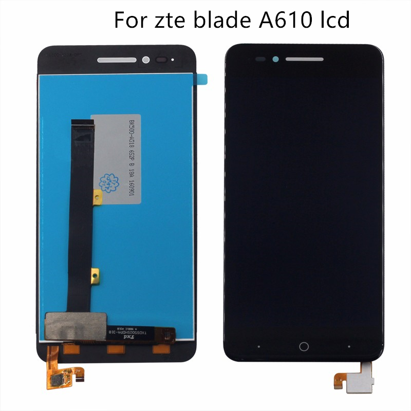 Original For zte Blade A610 LCD Display Touch Screen Digitizer Component 5 Inch 100% Test Work Monitor Free Shipping-in Mobile Phone LCD Screens from Cellphones & Telecommunications