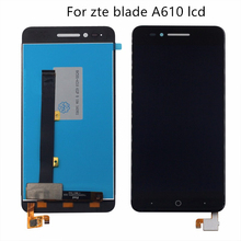 Original For zte Blade A610 LCD Display Touch Screen Digitizer Component 5 Inch 100% Test Work Monitor Free Shipping