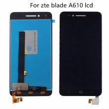 Uygulanabilir zte Bıçak A610 lcd ekran dokunmatik ekran digitizer Bileşen 5 Inç 100% Test Çalışmaları Monitör Ücretsiz Kargo