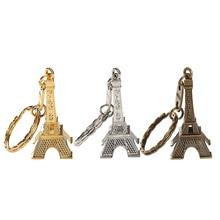 12 buc / lot Turnul Eiffel Franceză Souvenir Paris Keychain Cute Decorment Keyring 3 Culori Bronz Argint Pandantiv de aur Bag