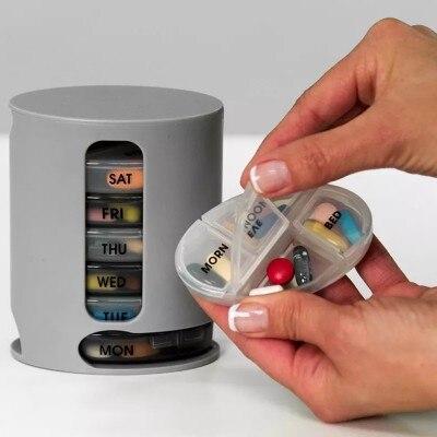 7 дней таблетки Организатор Pro Чехол для хранения компактный организовать мини-таблетки коробку для хранения удобно медицина коробка для хр...
