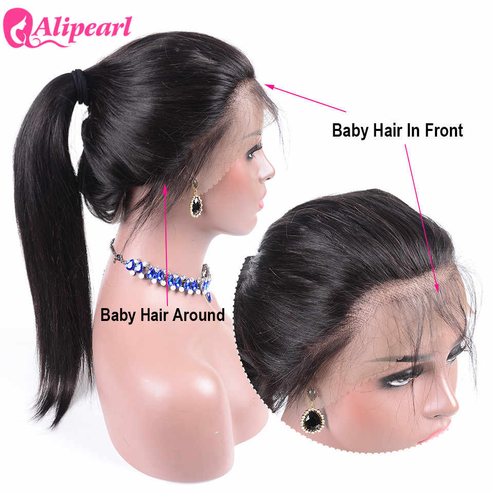 Али жемчуг Синтетические волосы на кружеве парики из натуральных волос на кружевной основе 130 150 180 250 плотность бразильские прямые человеческие волосы парики предварительно вырезанные Реми волос натуральный Цвет