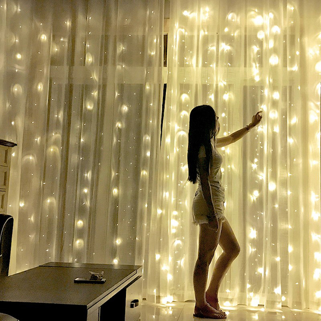 2x2/3x3/6x3m led wedding fairy string light christmas light 300 led fairy light garland for garden party curtain decoration