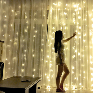 3x2/4x2/6x3m led wedding fairy string light christmas light 300 led fairy light garland for garden party curtain decoration(China)