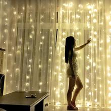 3x 2 4x 2 6x3m led wróżka ślubna girlanda żarówkowa oświetlenie bożonarodzeniowe 300 fantazyjne oświetlenie led garland na ogród kurtyna na imprezę dekoracji tanie tanio KIKIELF CN (pochodzenie) 1 year Walentynki Papier Żarówki LED Brak 110 v Ba9s 6-10m WHITE Jasno szary green Niebieski