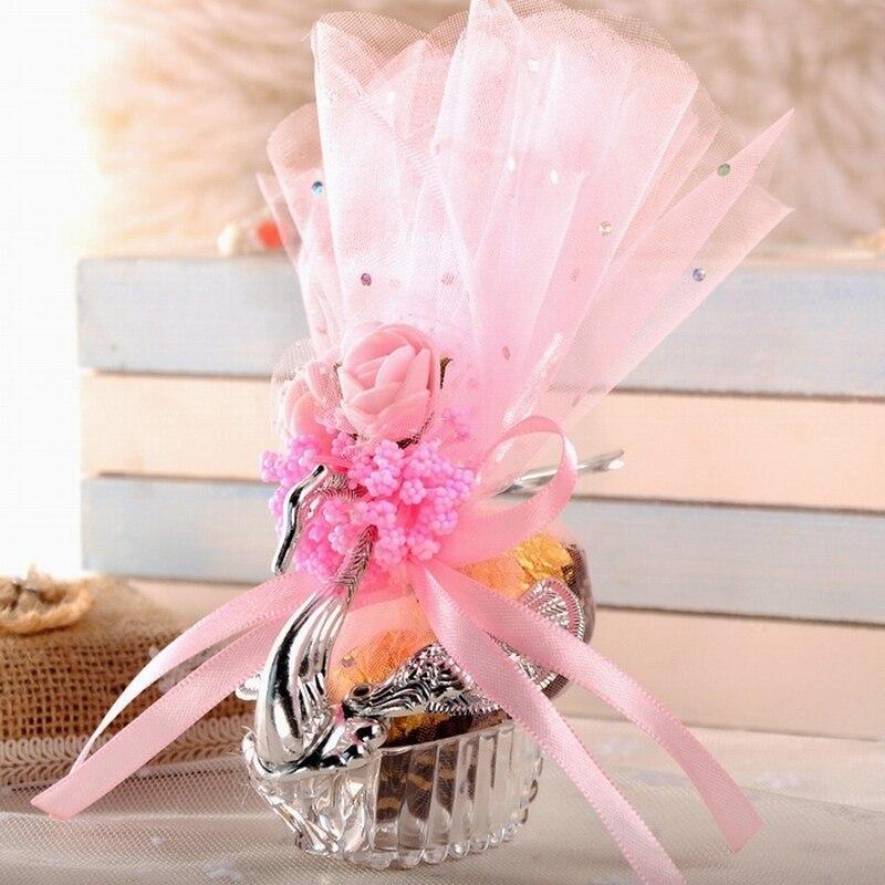 100 stücke Europäischen Stile Acryl Silber Elegante Schwan Candy Box Hochzeit Geschenk Favor Party Schokolade Boxen + Voll Zubehör-in Geschenktüten & Verpackungs-Zubehör aus Heim und Garten bei  Gruppe 3