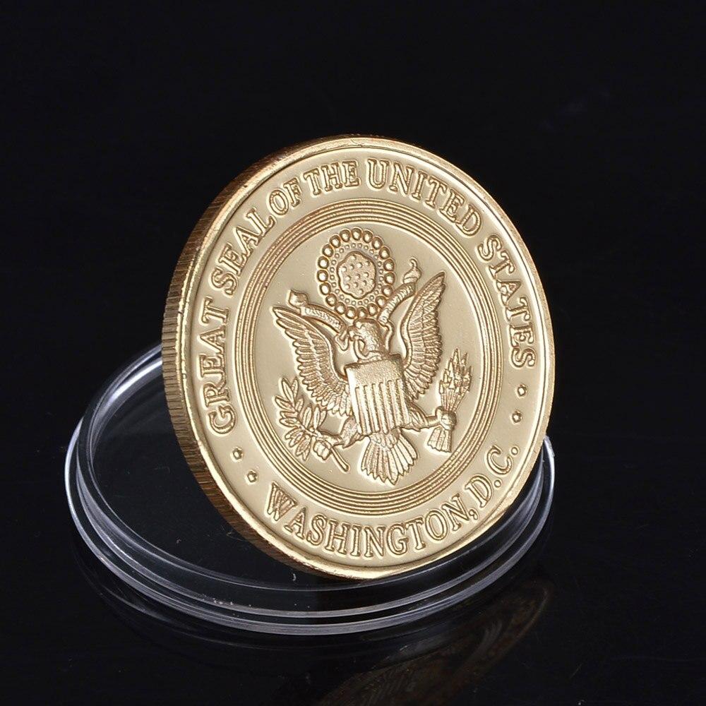 Partihandel Novelty Colorful Pure Gold Plated Mynt av US Department - Heminredning - Foto 3