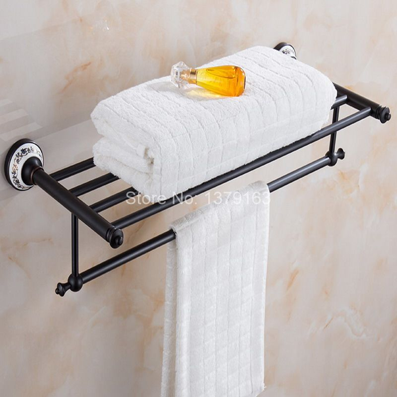 Bathroom Accessories Luxury Oil Rubbed Bronze Wall Mounted Bathroom towel rack and towel bar aba063 newly jade toothbrush holder rack oil rubbed bronze dual cup