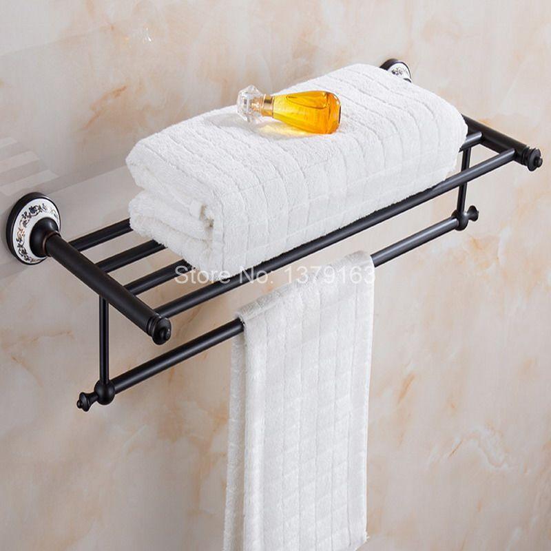 Bathroom Accessories Luxury Oil Rubbed Bronze Wall Mounted Bathroom towel rack and towel bar aba063