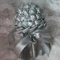 Серебристо-Серый Горный Хрусталь Свадебная Искусственный Невесты Свадебные Букеты Рамо Novia Свадебные Цветы Аксессуары