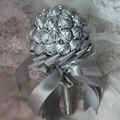 Silver Gray Rhinestone Mariage Artificial Bridesmaid Wedding Bouquets Ramo Novia Bridal Flower Accessoires