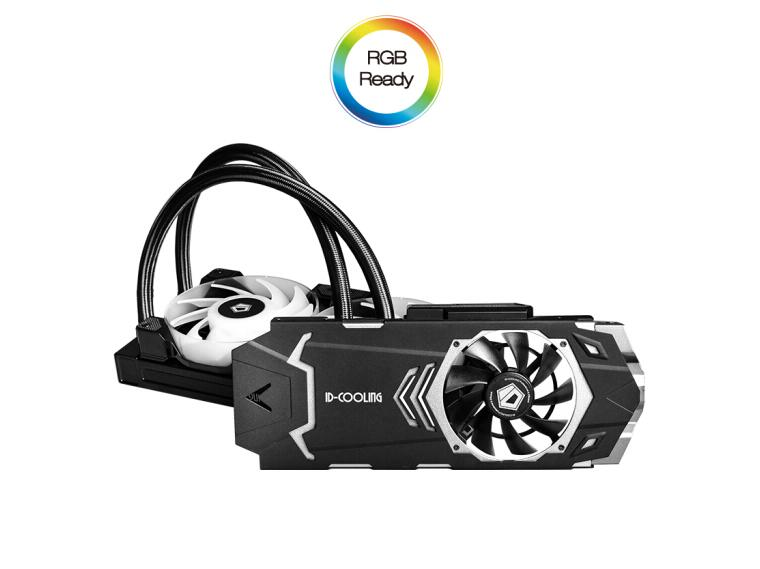 ID-cooling ICEKIMO 240VGA-RGB Comet Light Cream Stream Integrated Graphics Water Cooling Radiator Support RTX2000 Series RX5700
