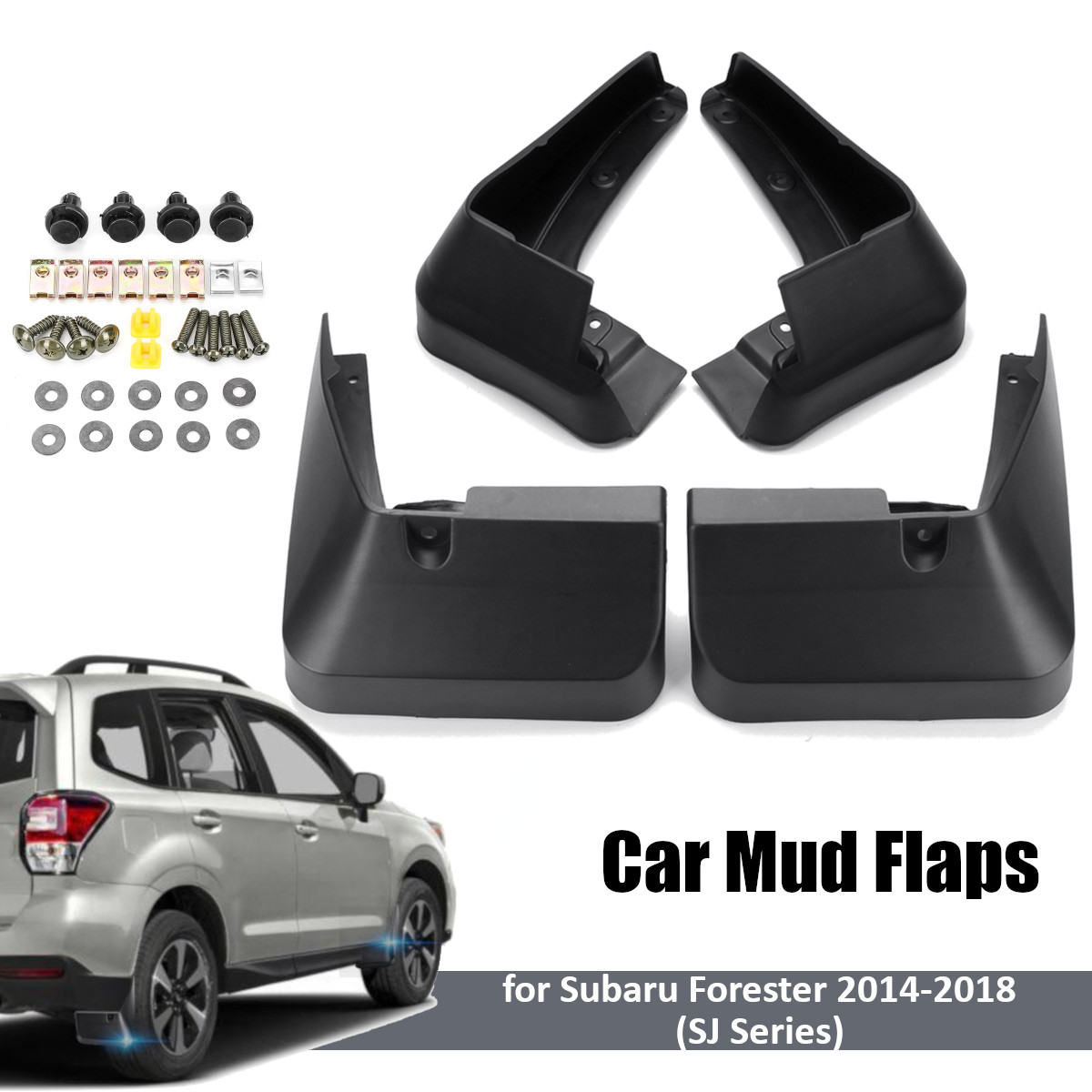 SJ 4 pcs Car Fender Flares para Subaru Forester 2014 2015 2016 2017 Frente Traseiro Lamas do Respingo Guardas Mud Flaps mudflap