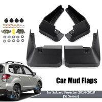4 шт расширитель крыла автомобиля для Subaru Forester SJ 2014 2015 2016 2017 передние задние брызговики Брызговики, Брызговики Mudflap