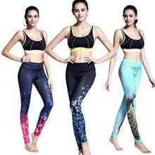 Kobiet yoga gym sport treningu fitness rajstopy legginsy kompresji biegania kropelki wody 3d drukowane spodnie treningowe spodni