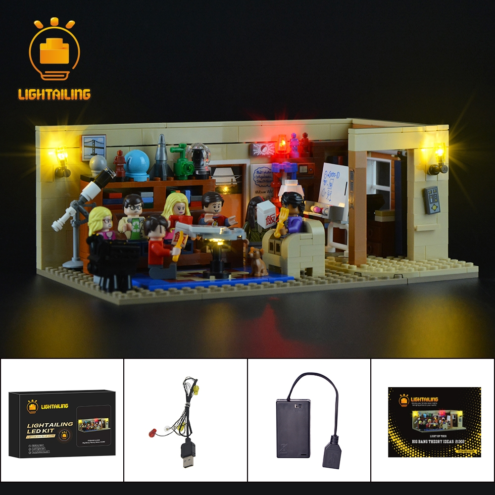LIGHTAILING Led Light Up Kit For Ideas Series The Big Bang Building Block Model Light Set Compatible With 21302 And 16024 led light up kit gor city model building block figures accessories kit toys for children compatible with lepin