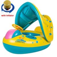 3 6Y Kids Baby Summer Swimming Pool Shade Swimming Ring Inflatable Swan Swim Float Water Fun Pool Toys Swim Ring Seat Boat Sport