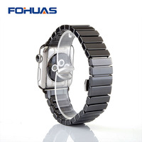 FOHUAS Ceramic Watchband For Apple Watch 38mm 42mm Smart Watch Band Link Strap Bracelet Ceramic Links
