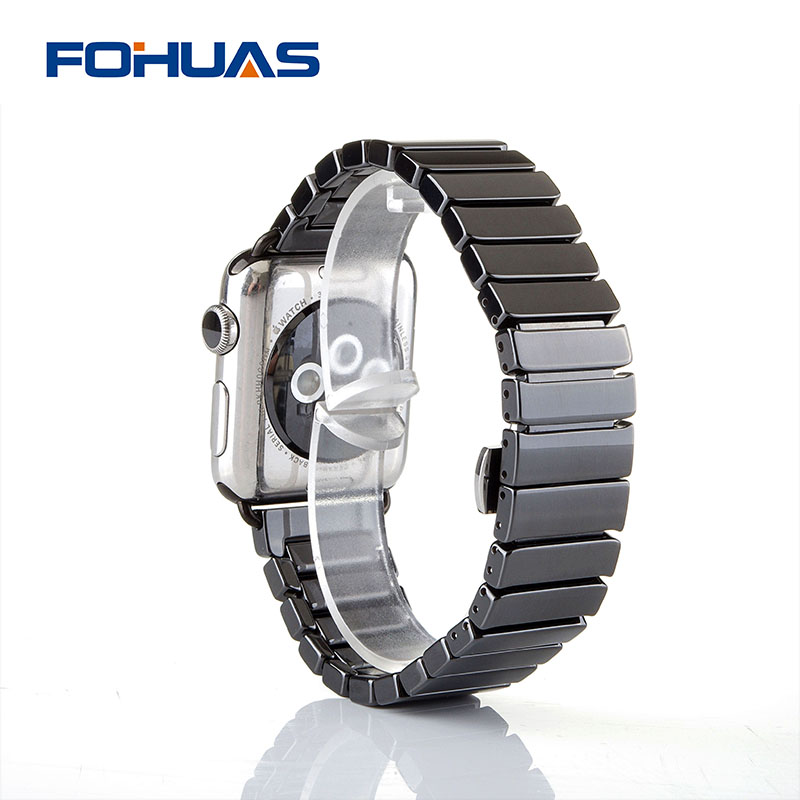 FOHUAS Ceramic Watchband For Apple Watch 38mm 42mm Smart Watch Band Link Strap Bracelet Ceramic Links