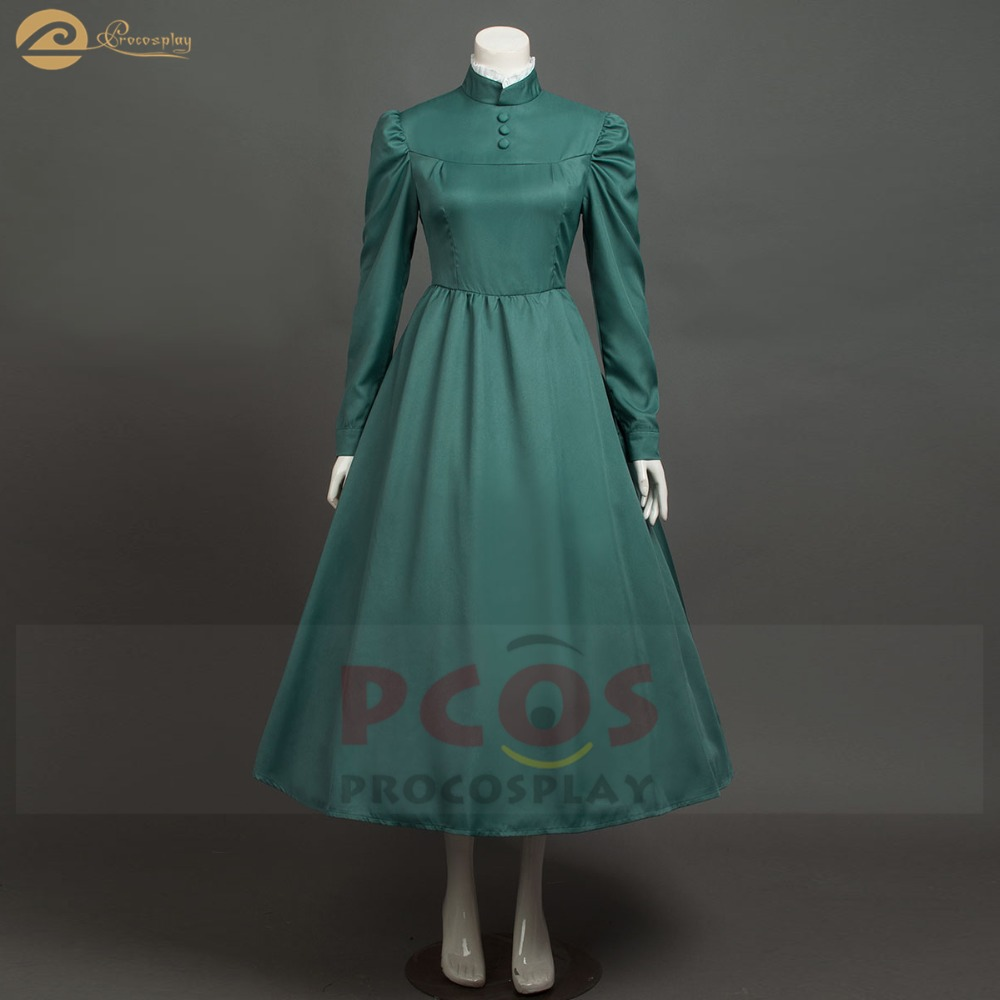 Howl's Moving Castle cosplay costume Cleaning lady cosplay costume Sophie hatter green cosplay costume mp004182