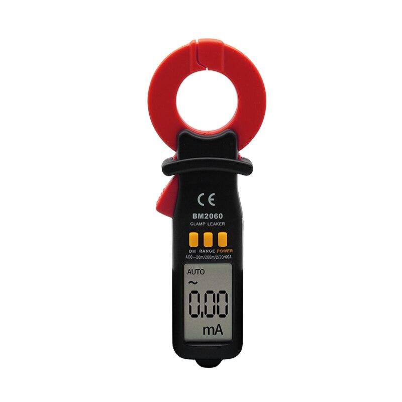 Venta caliente SZBJ BM2060 profesional corriente de fuga de prueba digital pinza medidor de medición de la precisión de la micro-corriente a 0.01A